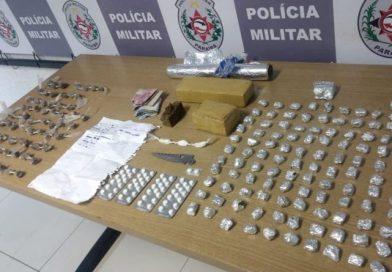 Polícia Militar prende suspeito de tráfico é apreende drogas em comunidade da Capital