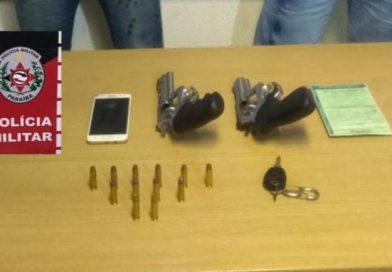 Polícia Militar prende dupla responsável por vários assaltos a comércios da Zona Sul da Capital