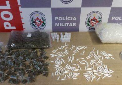 Ação conjunta da Polícia Militar apreende maconha e cocaína na zona norte de João Pessoa