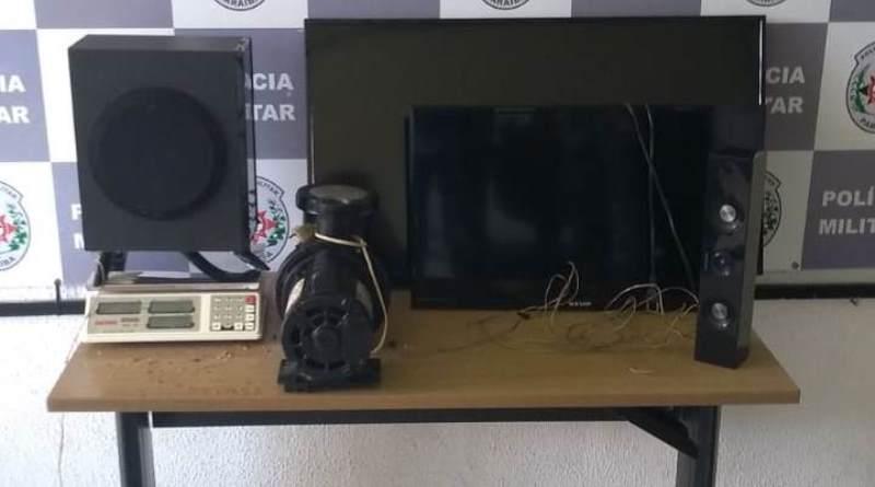 Polícia Militar prende suspeito de roubo a residência e recupera objetos e veículo