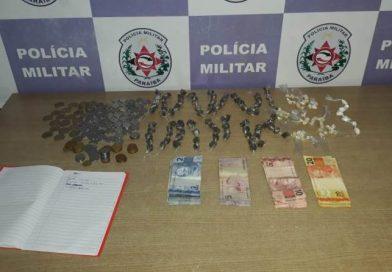 Polícia Militar apreende mais de 350 porções de drogas em Santa Rita e prende suspeito de tráfico