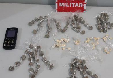 Polícia Militar apreende drogas, arma e cumpre mandado de prisão durante ações em Santa Rita