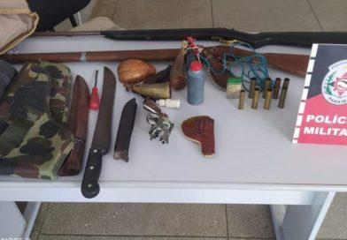 Polícia Militar apreende três armas de fogo com suspeito no Sertão