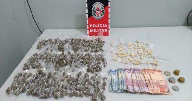 PM prende suspeito de tráfico de drogas na cidade de Santa Rita