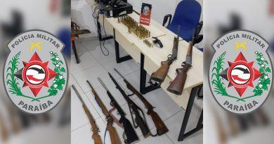 Polícia Militar apreende arsenal e prende dois suspeitos em ação na cidade de Imaculada