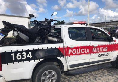 Polícia Militar prende suspeito de tomar moto por assalto e recupera o veículo em João Pessoa