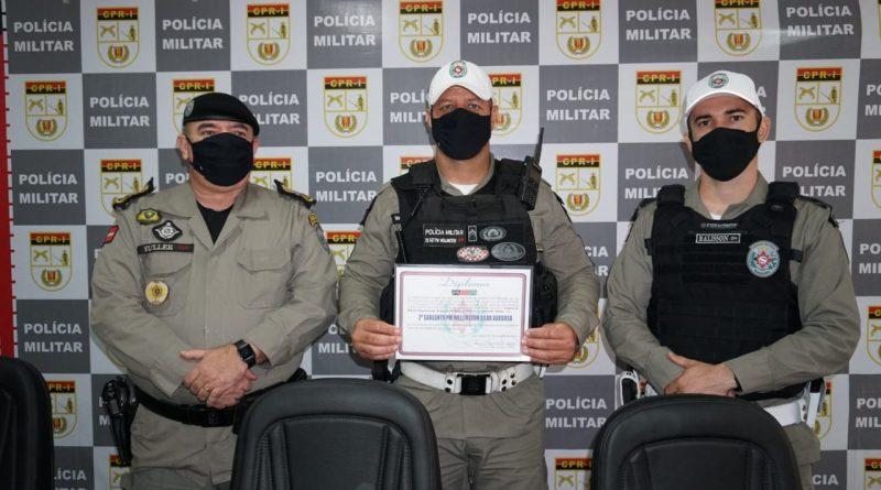 Comandante-geral da PM homenageia policial que, durante folga, realizou ação exitosa em Campina Grande