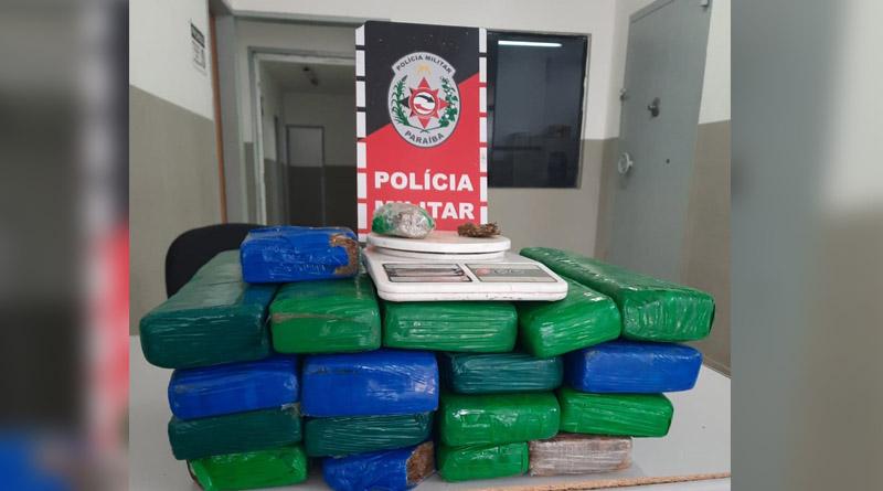 Polícia Militar apreende cerca de 20 quilos de drogas em sítio, no Sertão
