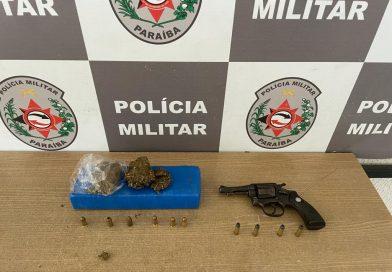 Polícia Militar apreende revólver, munições de pistola e drogas em ação de combate ao tráfico na Capital