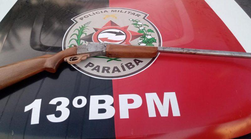 Polícia Militar prende acusado de praticar homicídio durante a madrugada na cidade de Piancó