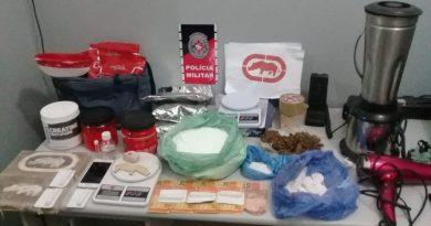 Polícia Militar encontra laboratório de refino de cocaína em uma casa na cidade de Bayeux
