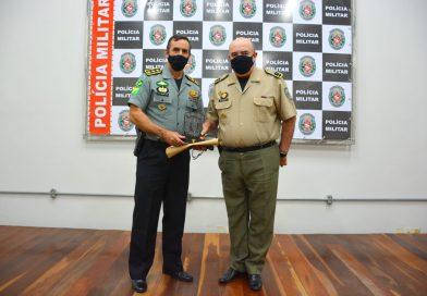 Comandante-geral da PM recebe coronel da Força Nacional, em João Pessoa